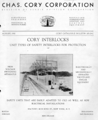 1930 Chas. Cory Corporation, a division of Bendix Aviation Corp., catalog cover